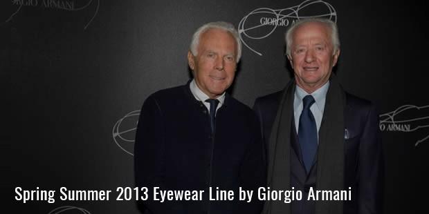 giorgio arman spring summer 2013 eyewear line
