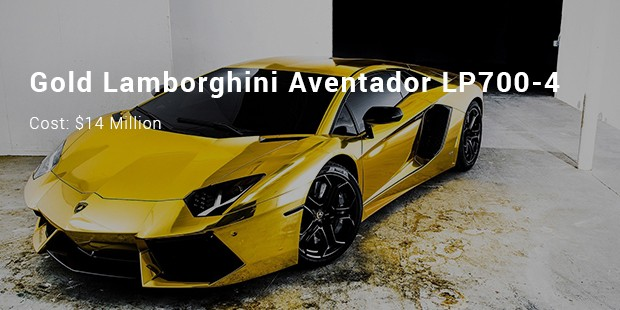 gold lamborghini aventador lp700 4