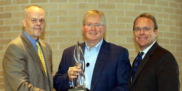 graham weston with award