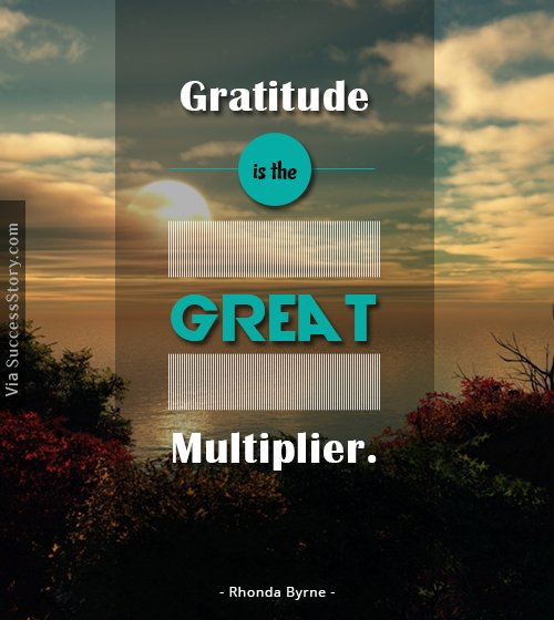 Gratitude is the great multiplier