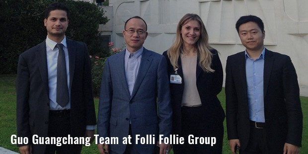guo guangchang team at folli follie group