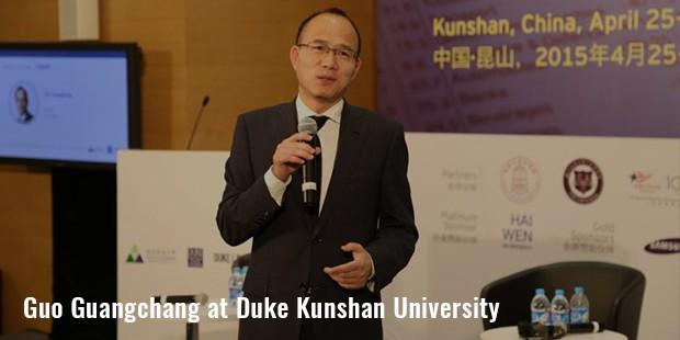 guo guangchang at duke kunshan university