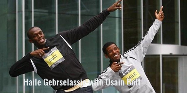 haile gebrselassie with usain bolt