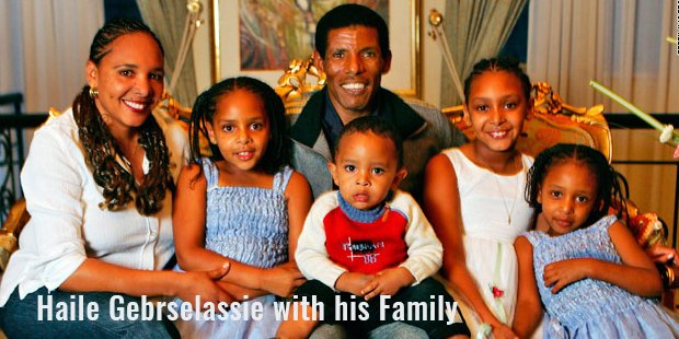 haile gebrselassie with his family