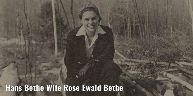 hans bethe wife rose ewald bethe