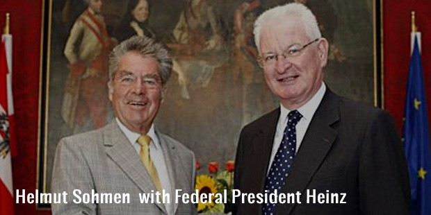helmut sohmen  with federal president heinz