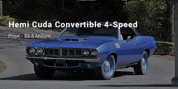 A 1971 Hemi Cuda Convertible 4-Speed