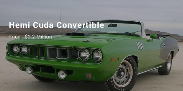 A 1971 Hemi Cuda Convertible