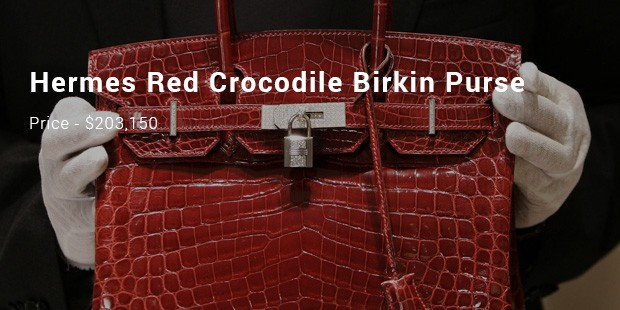 hermes red crocodile birkin purse