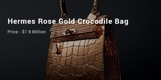 hermes rose gold crocodile bag