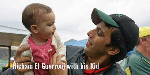 hicham el guerrouj with his kid
