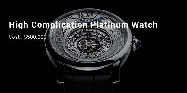 high complication platinum watch