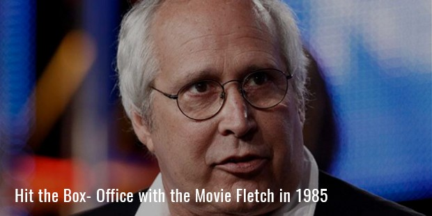 hit the box  office with the movie fletch in 1985