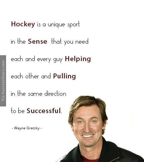 Hockey is a unique sport