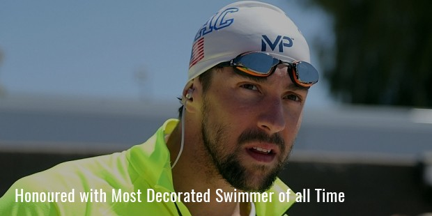 honoured with most decorated swimmer of all time