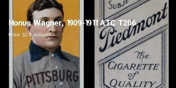 honus wagner   1909   baseball card   $ 2