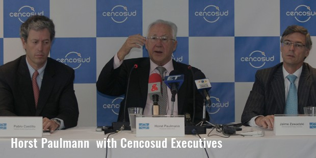 horst paulmann  with cencosud executives