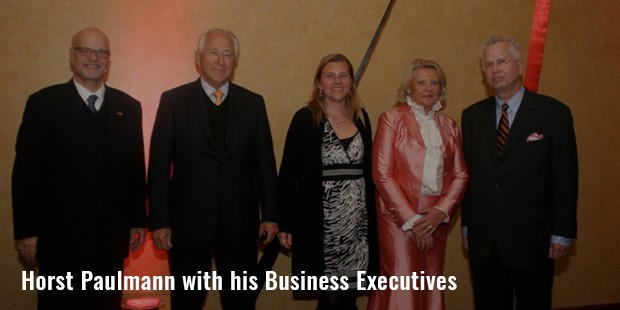 horst paulmann with his business executives