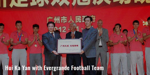 hui ka yan with evergrande football team