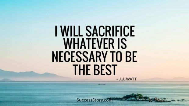 i will sacrifice