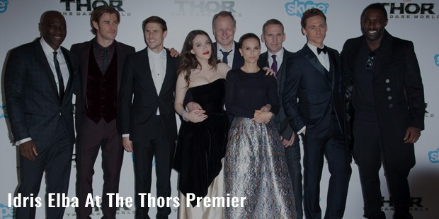 idris elba at the thors premier