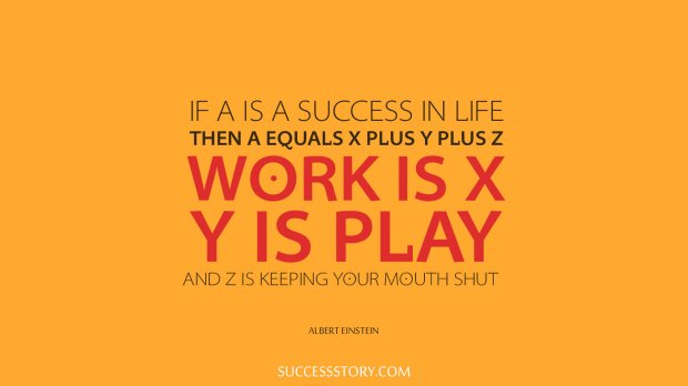 If A is a success in life, then A equals x plus y plus z