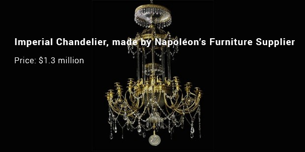 imperial chandelier, made by napoléon's furniture supplier
