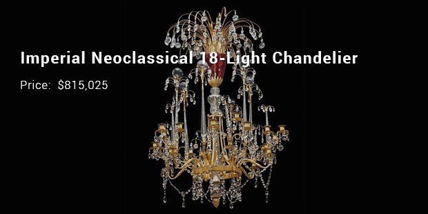 imperial neoclassical 18 light chandelier
