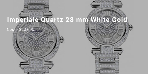 imperiale quartz 28 mm white gold