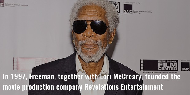 in 1997, freeman, together with lori mccreary, founded the movie production company revelations entertainment