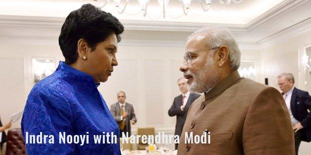 indra nooyi with narendhra modi
