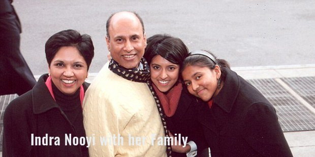 indra nooyi with her family