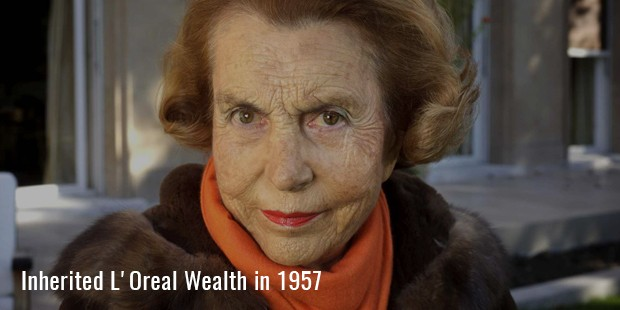 inherited l oreal wealth in 1957