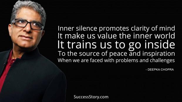 inner silence promotes