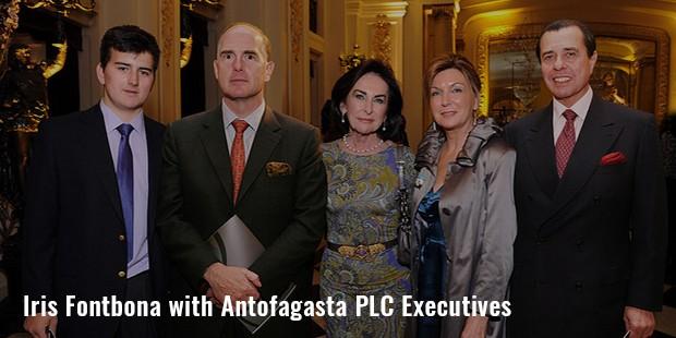 iris fontbona with antofagasta plc executives