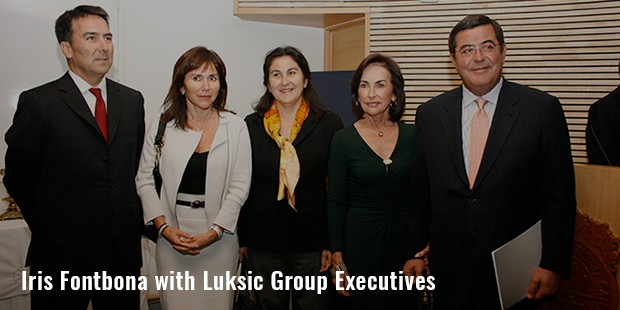 iris fontbona with luksic group executives
