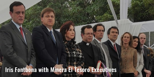 iris fontbona with minera el tesoro executives