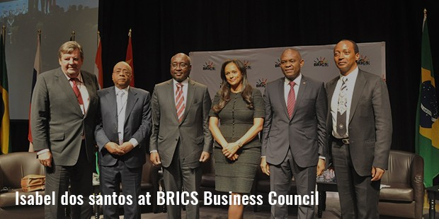 isabel dos santos at brics business council