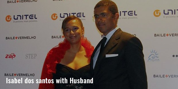 isabel dos santos with husband