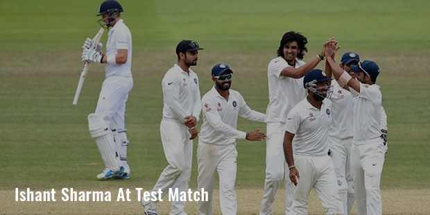 ishant sharma at test match