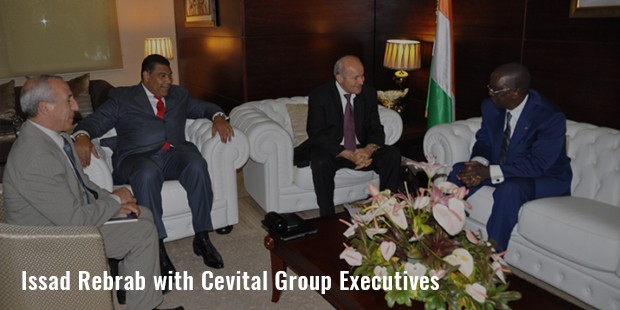 issad rebrab with cevital group executives