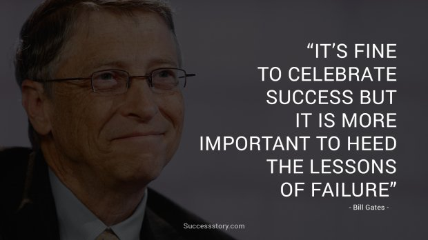 It's fine to celebrate success but it is more important to heed the lessons of failure