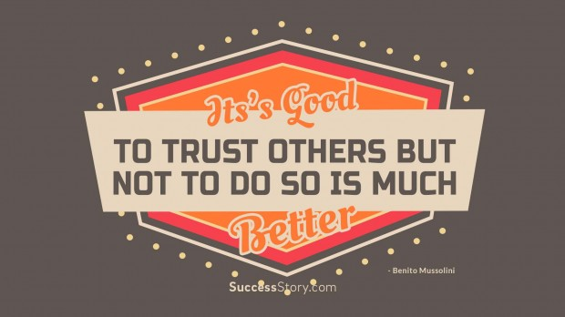 it s good to trust