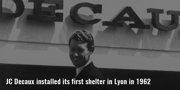jc decaux installed its first shelter in lyon in 1962
