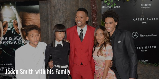 jaden smith with his family