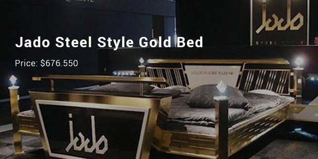 jado steel style gold bed