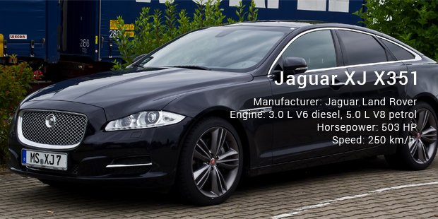 Bon Second On This List Is Jaguar   XJ X351 Which Is A Full Size Luxury Sedan  Launched By The British Car Giant. Calling It Luxurious Will Be An  Understatement ...