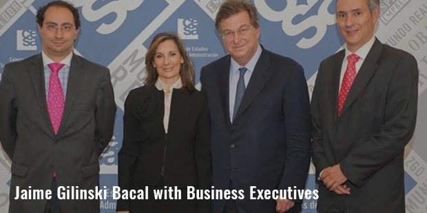 jaime gilinski bacal with business executives