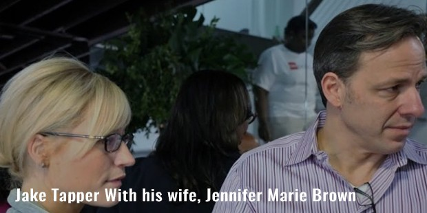 jake tapper with his wife, jennifer marie brown