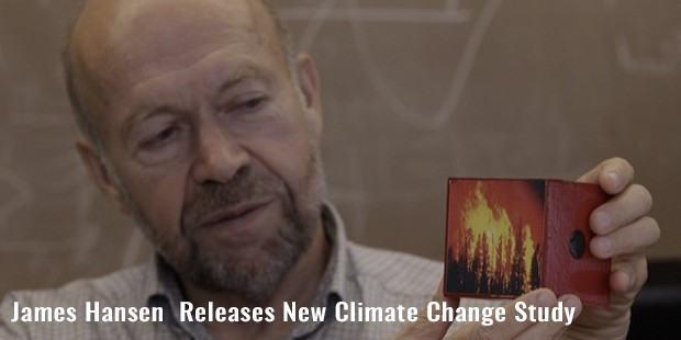 james hansen  releases new climate change study